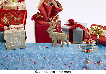 xmas gifts with reindeer