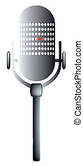 Old Mic - An old microphone with an indication thet the...
