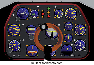 Control Panel of a WWII fighter plane in action