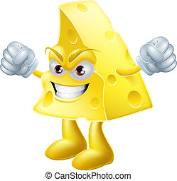 Angry cheese man - An illustration of a very angry looking...