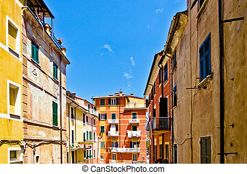Lerici in Liguria, Italy - Lerici in Liguria with houses