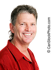 Portrait of Handsome Baby Boomer Man - Portrait of a...
