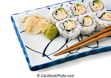 Sushi - California Roll - Japanese food - california roll...