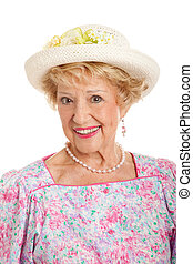 Portrait of Sweet Southern Lady - Sweet senior lady from the...