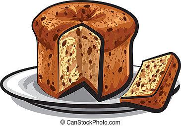raisins cake panettone