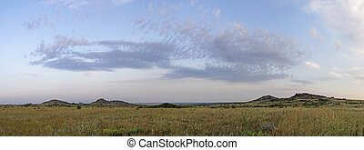 "National Park "" Stone Tombs "". Donetsk. Ukraine. Panorama -..."