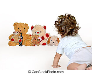 Seven months old baby perception on family and relations