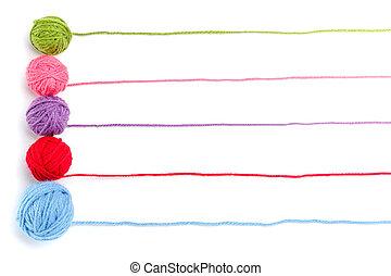 Knitting banner design on white background