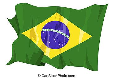 Flag series: Brazil