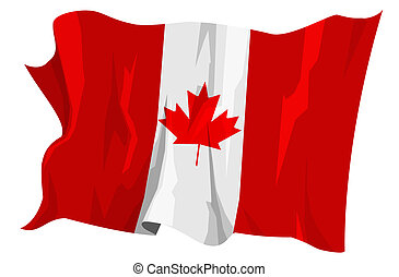 Flag series: Canada - Computer generated illustration of the...