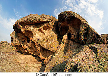 Rock erosion. Weathered. Geological formations - National...
