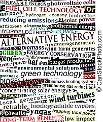Alternative energy headlines - Background illustration of...
