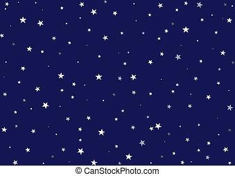 estrelado, estrelado, noturna