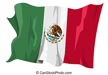 Flag series: Mexico - Computer generated illustration of the...