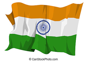 Flag series: India - Computer generated illustration of the...