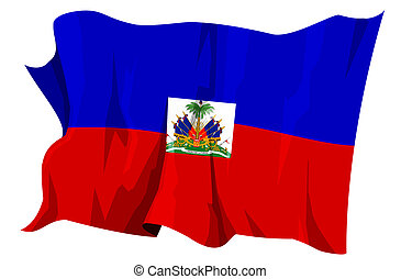 Flag series: Haiti - Computer generated illustration of the...