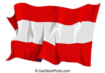 Flag series: Austria - Computer generated illustration of...
