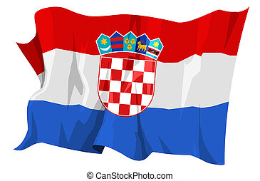 Flag series: Croatia - Computer generated illustration of...