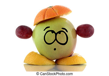 Diet Funny fruit charakter - Diet Funny fruit collection on...