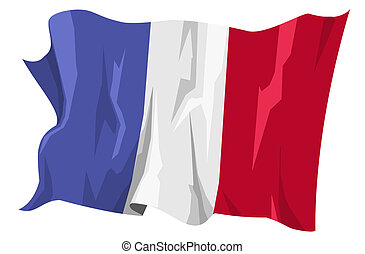 Flag series: France - Computer generated illustration of the...