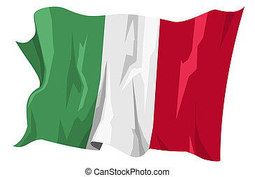 Flag series: Italy - Computer generated illustration of the...