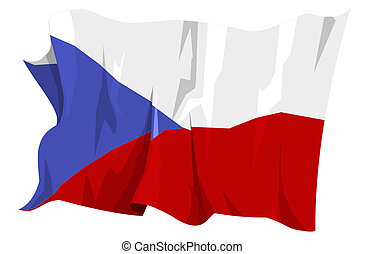 Flag series: Czech Republic - Computer generated...