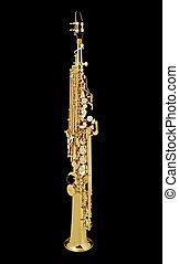 Saxo Soprano_7580. - Soprano Sax, wind instrument. On a...