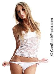 Sexy underwear model