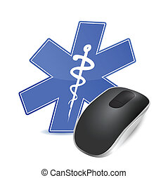 medical technology concept. computer mouse - medical...