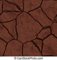 Cracked earth - Cracked parched earth ground surface texture...