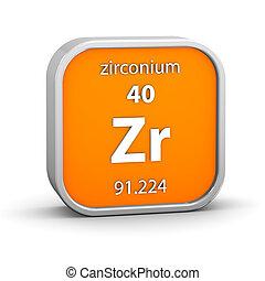 Zirconium material sign - Zirconium material on the periodic...