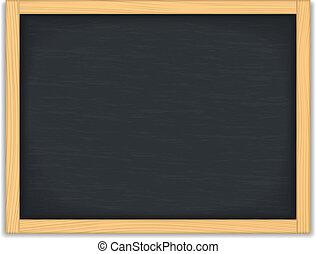 Blank Black Chalkboard - Blank black chalkboard, vector...
