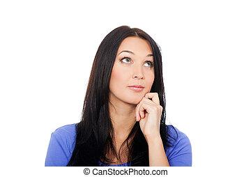 pretty woman, young attractive girl portrait - pretty woman...