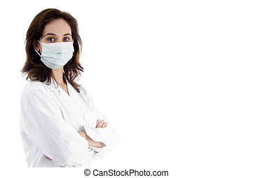 pose of doctor with facemask - pose of doctor with face mask...