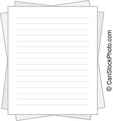 Paper Lined Stacked  - Isolated lined white paper stacked