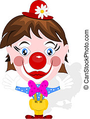 Funny clown with big smile