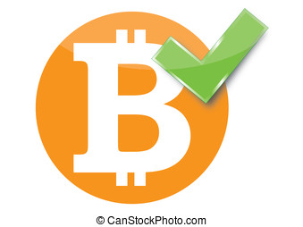 Bitcoin sign accepted - Vector of a sign of bitcoin accepted...