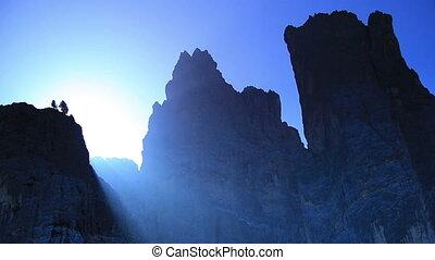 Sunrise over Dolomites.