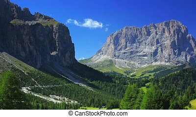Dolomites mountains panorama