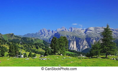 Dolomites mountains panorama.