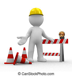 sorry, under construction - worker, under construction
