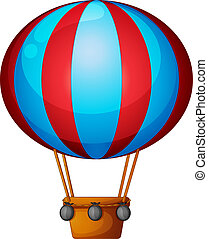 A hot air balloon - Illustration of a hot air balloon on a...