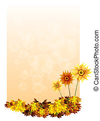 A paper with sunflowers