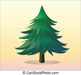A big pine tree - Illustration of a big pine tree