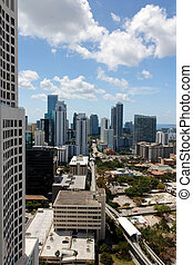 View over Brickell Miami - View among the towers of...