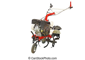 cultivator under the white background