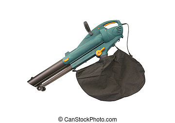 Leaf blower under the white background