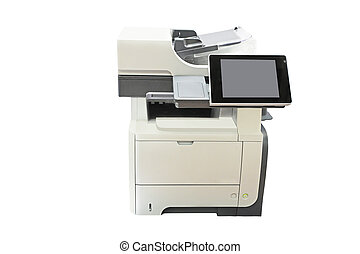 copying machine - Office copying machine under thew white...