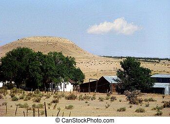 Colorado Meager Existence - A Colorado Ranch provides only a...