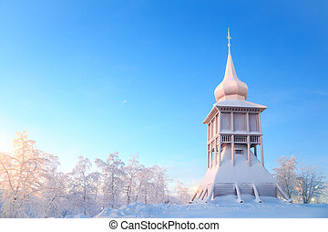 Kiruna cathedral monument Lapland Sweden - Kiruna cathedral...